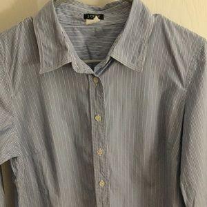 J. Crew 3/4 sleeve dress shirt